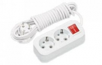 Удлинитель БелТИЗ У16-2-3,0-В двухместный 3 метра 16А с заземляющими контактами и выключателем