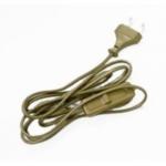 Сетевой шнур с выключателем Feron 23051 KF-HK-1 1.9 метра, золото