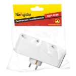 Разветвитель Navigator 94 672 NAD-L-3E-WH 3 гн. (в ряд) с/з 94672