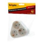 Разветвитель Navigator 94 693 NAD-S-3E-WH 3 гн. (треугольник) с/з 94693