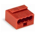 Клеммная колодка 4-проводная WAGO 243-804 MICRO PUSH WIRE для распределительных коробок одножильных проводников, красный