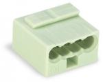 Клеммная колодка 4-проводная WAGO 243-304 MICRO PUSH WIRE для распределительных коробок одножильных проводников, светло-серый