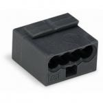 Клеммная колодка 4-проводная WAGO 243-204 MICRO PUSH WIRE для распределительных коробок одножильных проводников, тёмно-серый