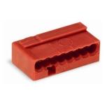 Клеммная колодка 8-проводная WAGO 243-808 MICRO PUSH WIRE для распределительных коробок одножильных проводников, красный