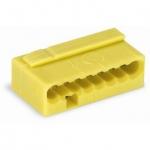 Клеммная колодка 8-проводная WAGO 243-508 MICRO PUSH WIRE для распределительных коробок одножильных проводников, жёлтый
