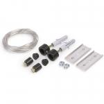 Комплект крепления к потолку Topmet Light 67120002 SELV, 50В, 150мм, черный