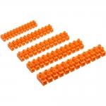 Винтовой зажим GTV LZ-100MM0-00, AC 220-240V, 12 клемм, полиэтилен, оранжевый