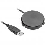 Зарядное устройство беспроводное GTV AE-ZLADPOD-20, USB-разъем, источник питания, кабель USB 1.5м, 0.5Вт, 1A, для встраивания в мебель