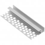 Профиль алюминиевый GTV PA-GLAXGKW3M-00 LED GLAX, потолочный, для гипсокартонных плит, длина 3м, неанодированный