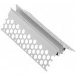 Профиль алюминиевый GTV PA-GLAXGKZK3M-00 LED GLAX, угловой наружный, для гипсокартонных плит, длина 3м, неанодированный