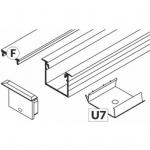 Профиль алюминиевый встраиваемый комплект Topmet Light 58900020 SET STANDARD LINEA-IN20 F opal U7 rack inox, длина 2м, анодированный алюминий