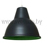 Светильник подвесной Zercale Cupola 01-300-102, антрацит+зеленый