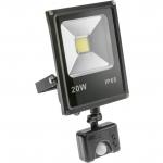 Прожектор светодиодный GTV IN-FLS20WC-64 INNOVO , 20W, 1200lm, AC220-240V, 50/60 Hz, IP65, 6400K, c датчиком движения, черный корпус
