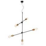 Светильник подвесной Nowodvorski 6270 STICKS, IP20, E27(max.5x60W), черный, медь