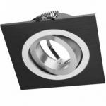 Светильник встраиваемый GTV OP-OPRKW1-20 MORENA, IP20, квадратный, с регулировкой угла рассеивания, черный