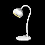 Светильник светодиодный настольный Artstyle TL-326WS SFERA, 7Вт, 3500-5500К, 3 режима света, бесступенчатое изменение яркости, гибкая стойка, сенсорное управление, белый-серебристый