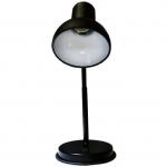Светильник настольный Трансвит 2001019560019 НТ 2077А, 1xE27, 60Вт, 220В, на подставке, гибкая стойка, черный