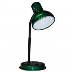 Светильник настольный Трансвит 2001019620010 НТ 2077А, 1xE27, 60Вт, 220В, на подставке, гибкая стойка, зеленый перламутр