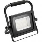 Прожектор светодиодный GTV LD-INEXT50WP-64 INEXT, 50Вт, 4000Лм, PF>0,9, RA>80, IP65, 120°, 6400K, черный корпус, переносной
