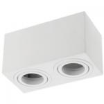 Светильник GTV OS-AV80160KW2-10 AVEIRO DUO, 2xGU10 MR16, IP20, алюминий, белый