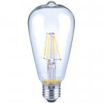 Лампа светодиодная Sylvania 0027510 TOLEDO RT DIM V2 ST64 CL 806LM 2700K E27 SL, диммируемая