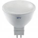 Лампа светодиодная GTV LD-SM8016-40-E MR16, 8W, 560лм, AC175-250V, 50/60 Hz, PF>0,5, RA>80, 120°, 4000K, 70mA