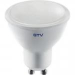 Лампа светодиодная GTV LD-PC8010-40-E GU10, 8W, 560лм, AC175-250V, 50/60 Hz, PF>0,5, RA>80, 120°, 4000K, 70 mA