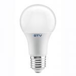 Лампа светодиодная GTV LD-PN3A60-10W-E, E27, A60, 4000K, 10W, AC220-240V, 220°, 800lm, 87mA