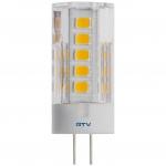 Лампа светодиодная GTV LD-G4P50W-30-E, G4, SMD2835, 3000K, 5W, 12V DC, 360°, 420lm