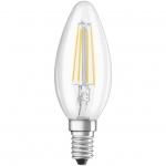 Лампа светодиодная OSRAM 4058075116672 LED STAR B60 5W/827 E14 230V CL FIL, свеча, теплый белый, колба прозрачная