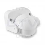 Датчик движения накладной микроволновый GTV AE-CM1000-00 CM-1, max.1200W, IP44, AC220-240V, 50-60Hz, угол действия 180°, R 1-8m, работает с LED, белый корпус