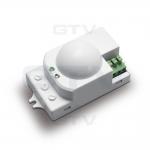 Датчик движения накладной микроволновый GTV AE-SRC812-00 SRC812, max.1200W,IP20, AC220-240V, 50-60Hz, угол действия 360°, R 1-8m, работает с LED, белый корпус